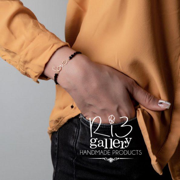 خرید آنلاین دستبند طلا زنانه Love