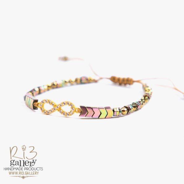 دستبند طلا زنانه بی نهایت فروشگاه اینترنتی ریسه گالری