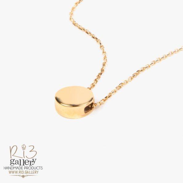 خرید آنلاین گردنبند طلا زنانه دایرهای