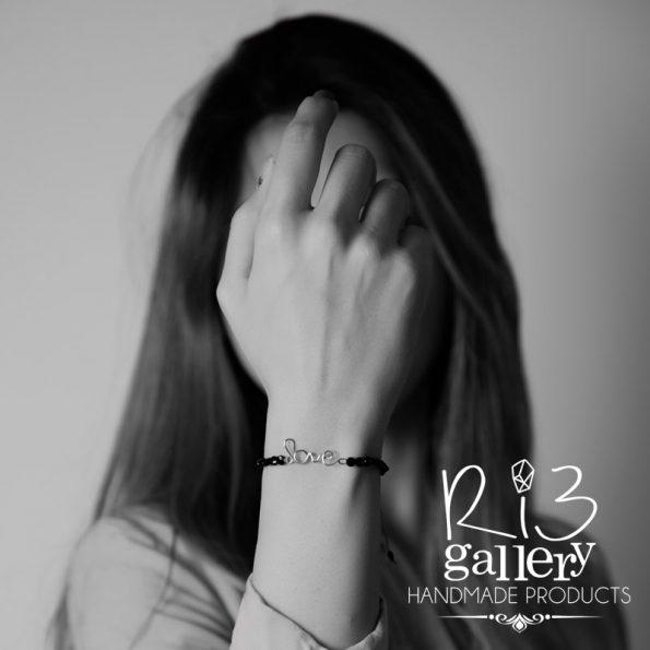 دستبند طلا زنانه Love فروشگاه اینترنتی ریسه گالری
