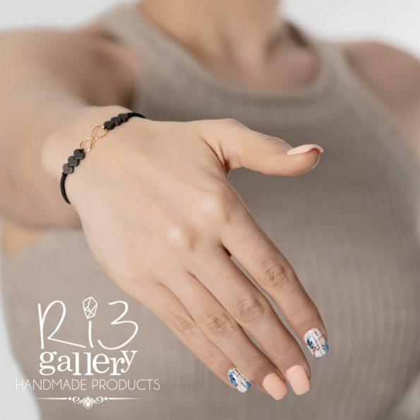 خرید آنلاین دستبند طلا زنانه Love Forever | دارای 0.370 گرم طلا ریسه گالری