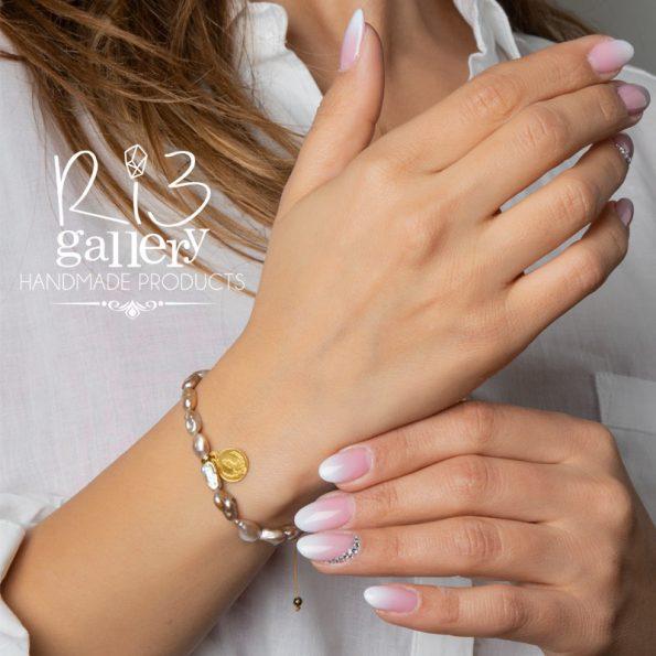 خرید آنلاین فروشگاه زیورآلات ریسه گالری دستبند زنانه طلا طرح سکه