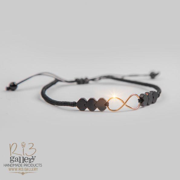 فروشگاه اینترنتی ریسه گالری دستبند طلا زنانه Love Forever | دارای 0.370 گرم طلا