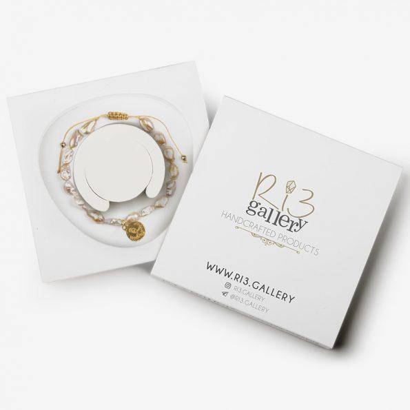 بسته بندی دستبند زنانه طلا طرح سکه