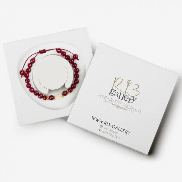 بسته بندی دستبند طلا زنانه رزا