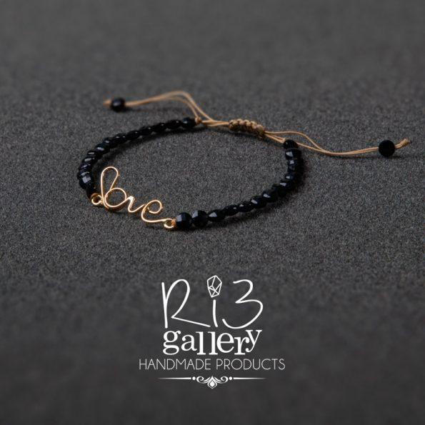خرید آنلاین ریسه گالری دستبند طلا زنانه Love فروشگاه اینترنتی زیورآلات