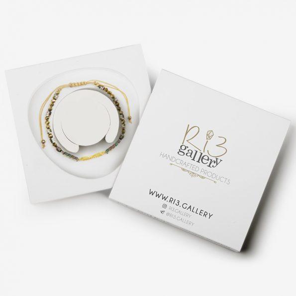 بسته بندی دستبند طلا زنانه بی نهایت