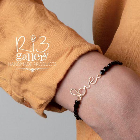 دستبند طلا زنانه Love ریسه گالری فروشگاه اینترنتی ریسه گالری