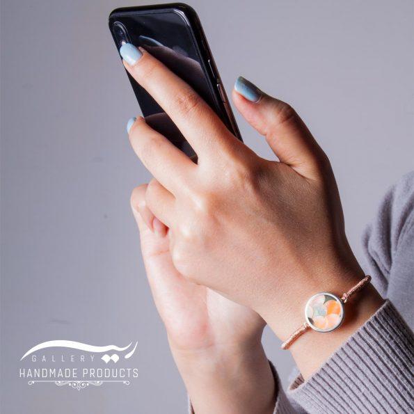 جدیدترین مدل دستبند صدف با طرح پولکی رزگلد