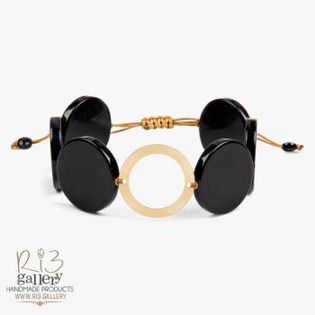 دستبند طلای زنانه عقیق فشن
