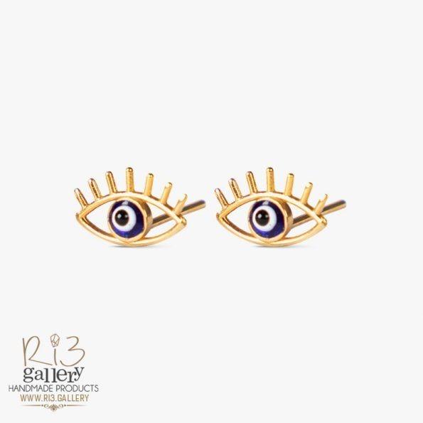 گوشواره طلا زنانه چشم نظر | استفاده از نماد در زیورآلات نماد چشم نظر