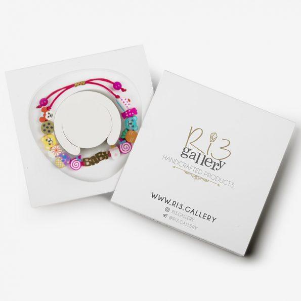 بسته بندی دستبند طلای بچگانه طرح گوگولی |