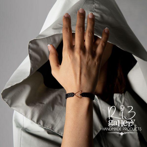 ریسه گالری دستبند طلا زنانه حدید و لابرادوریت