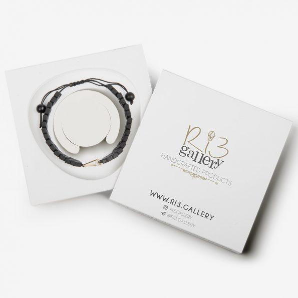 بسته بندی دستبند طلا زنانه حدید و لابرادوریت ریسه گالری