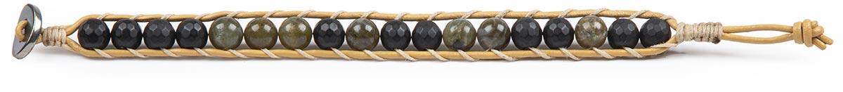 دستبند چرم مردانه لابرادورایت سبز