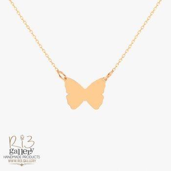 گردنبند طلا زنانه پلاک پروانه