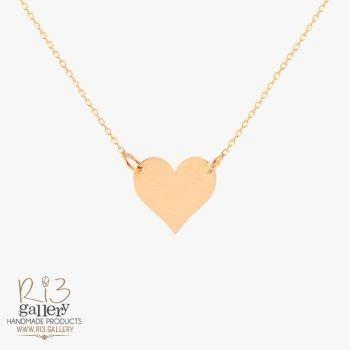 گردنبند طلا زنانه پلاک قلب