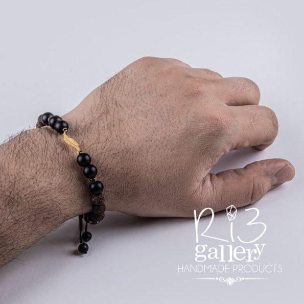 خرید دستبند طلا مردانه طرح پر | خواص سنگ جید