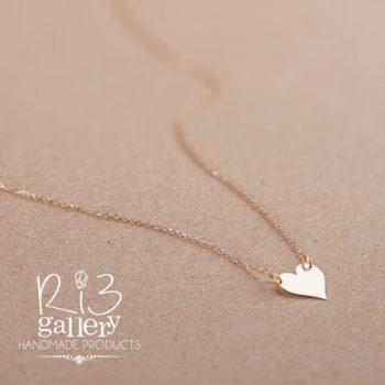 گردنبند طلا زنانه پلاک قلب ریسه گالری