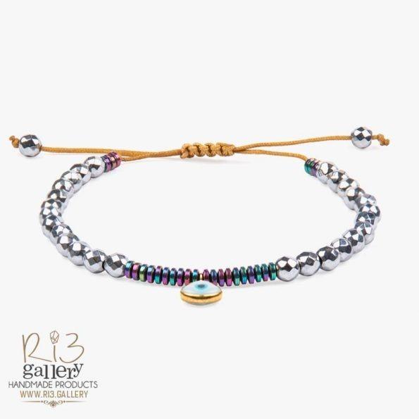 دستبند طلا زنانه آویز چشم نظر