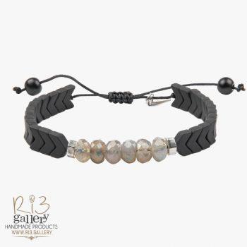 دستبند نقره زنانه لابرادورایت