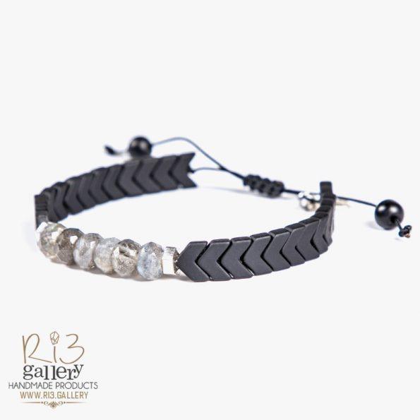 دستبند نقره زنانه لابرادورایت فروشگاه اینترنتی ریسه گالری