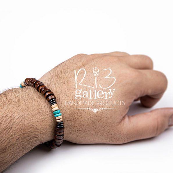 فروشگاه زیورآلات دست ساز | دستبند مردانه فیروزه و آبنوس | خواص سنگ فیروزه و جادوی آن