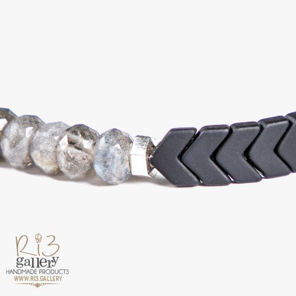 دستبند نقره زنانه لابرادورایت ریسه گالری انواع زیورالات دست ساز حدید و اونیکس