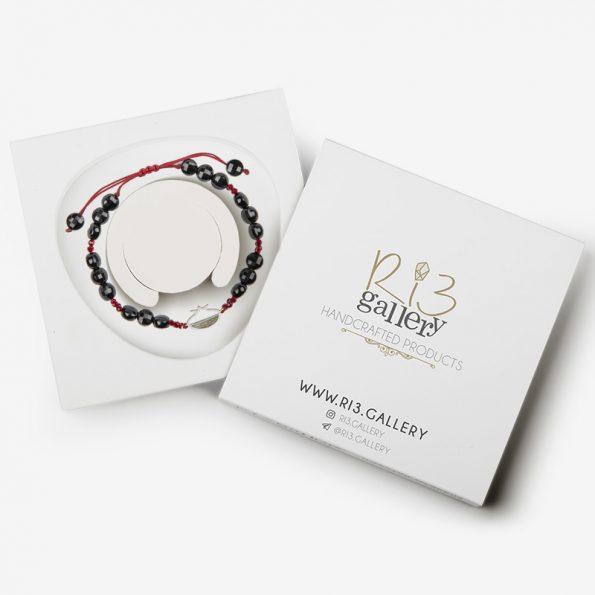 بسته ببندی دستبند نقره زنانه اناردو ن عقیق