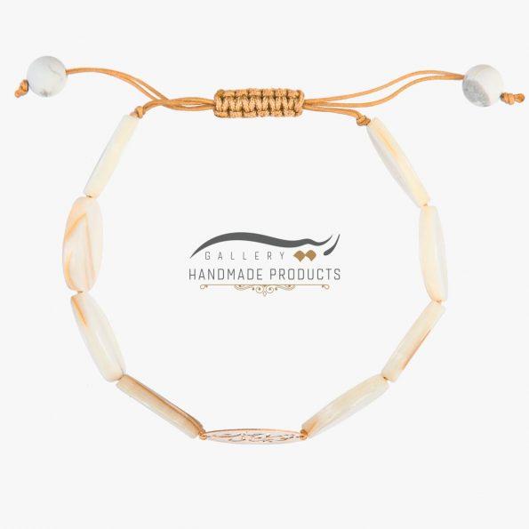 عکس دستبند طلا زنانه صدف