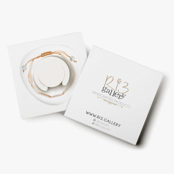 بسته بندی دستبند طلا زنانه صدف ریسه گالری