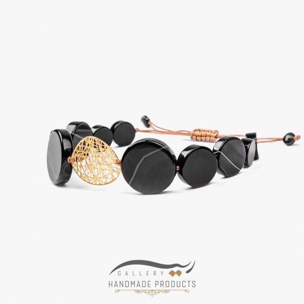 دستبند طلا زنانه طرح چیپسی فروشگاه زیورآلات دست ساز ریسه گالری