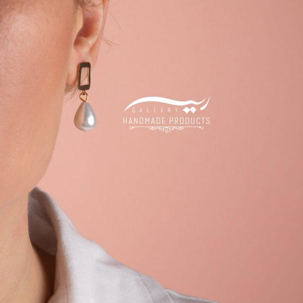 گوشواره طلا زنانه مروارید اشکی