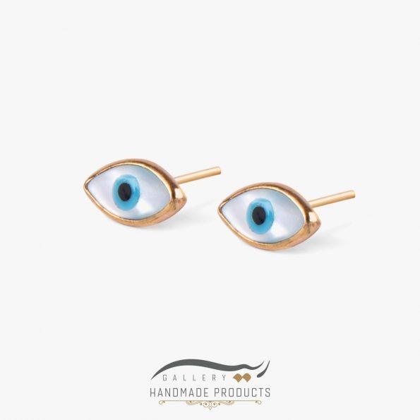 گوشواره طلا زنانه چشم نظر صدفی