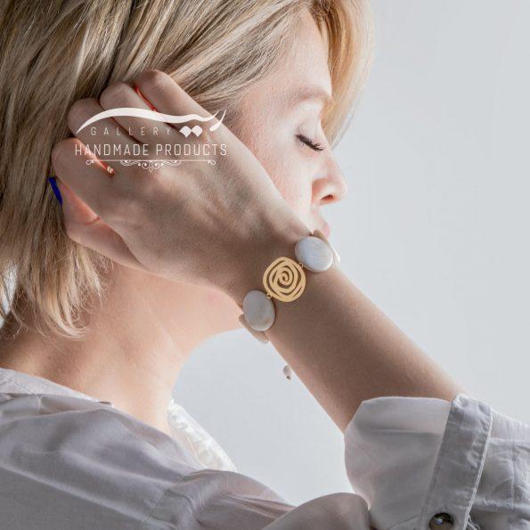 دستبند طلا زنانه اسپیرال فروشگاه زیورآلات دست ساز ریسه گالری