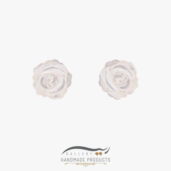 گوشواره طلا زنانه رزا فروشگاه زیورآلات دست ساز ریسه گالری
