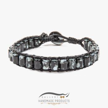 دستبند چرم مردانه جاسپر