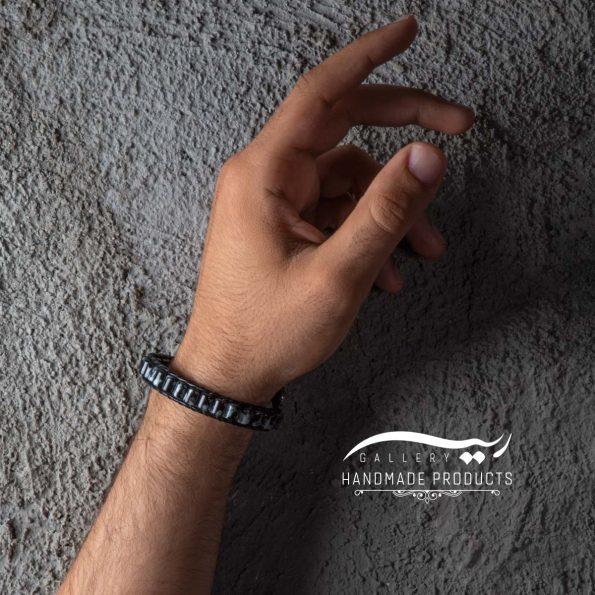 دستبند چرم مردانه جاسپرفروشگاه اینترنتی ریسه گالری