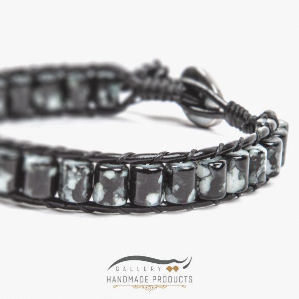 دستبند چرم مردانه جاسپر فروشگاه ریسه گالری