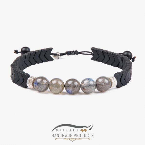 دستبند نقره مردانه لابرادورایت