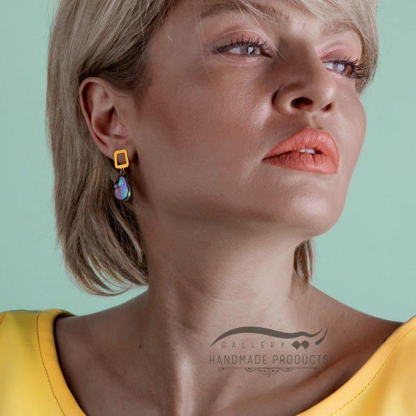گوشواره طلا زنانه باروک ریسه گالری