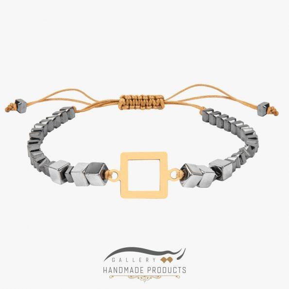 دستبند طلا زنانه چهار گوش