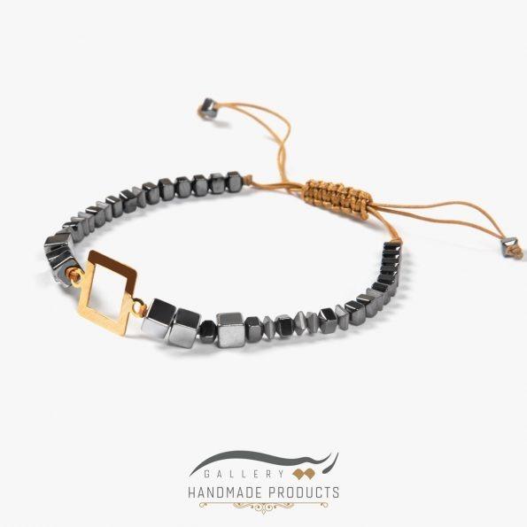 دستبند طلا زنانه چهار گوش فروشگاه اینترنتی ریسه گالری