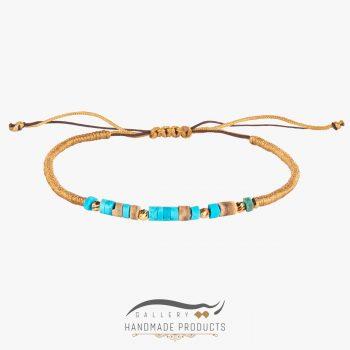 دستبند طلا زنانه بافت فیروزه