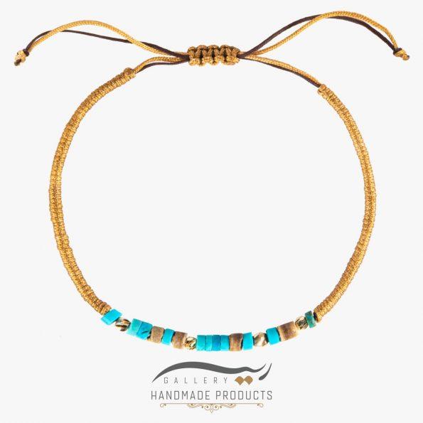 خرید دستبند طلا زنانه بافت فیروزه