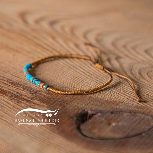 دستبند طلا زنانه بافت فیروزه ریسه گالری