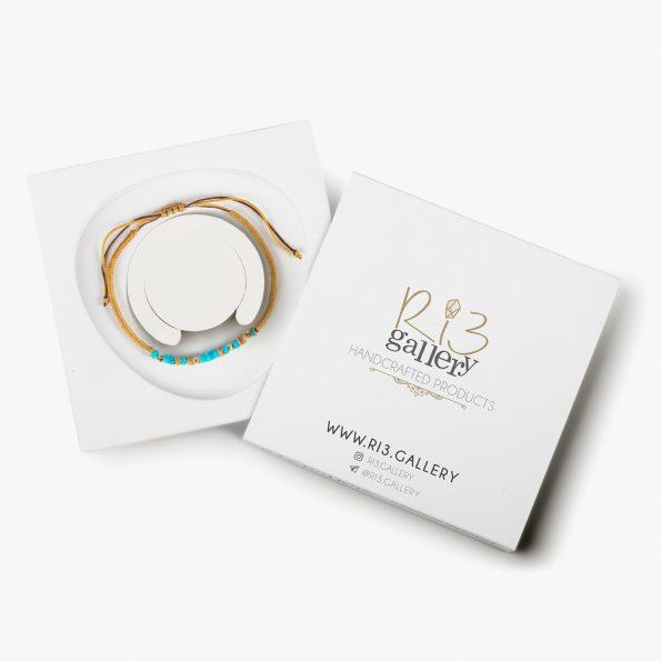 بسته بندی دستبند طلا زنانه بافت فیروزه