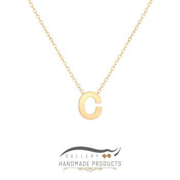 گردنبند طلا حرف c