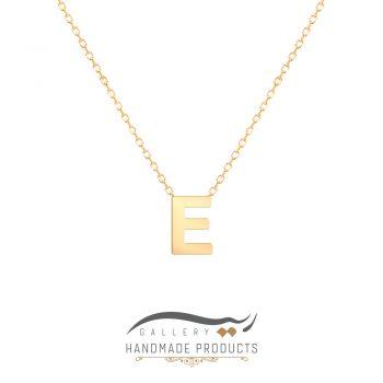 گردنبند طلا حرف e