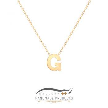 گردنبند طلا حرف g